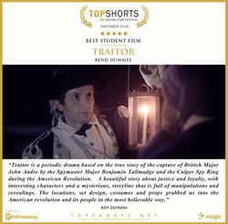 2018 11 Best Student Film - Traitor