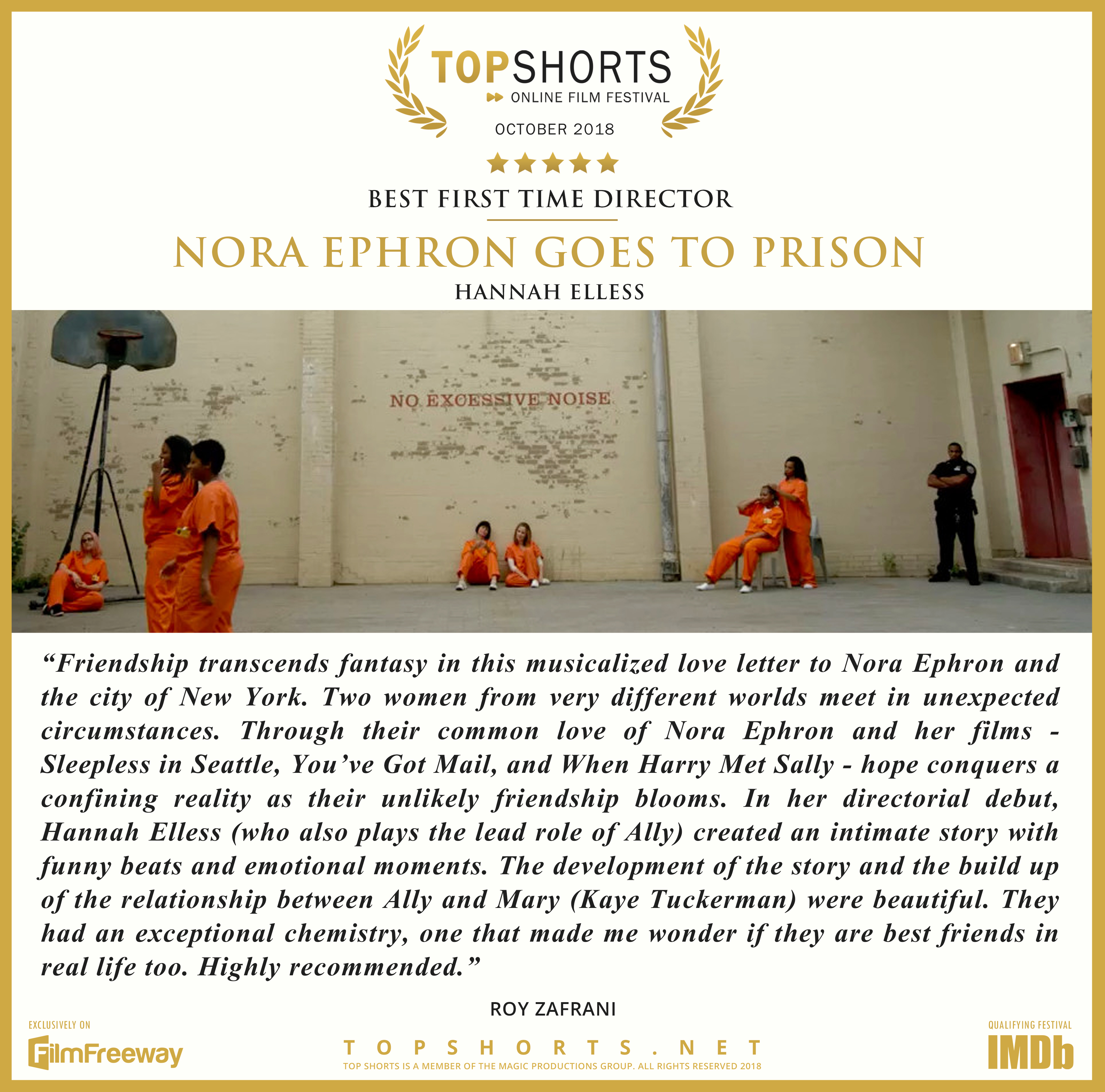 2018 10 Best First Time Director - Nora