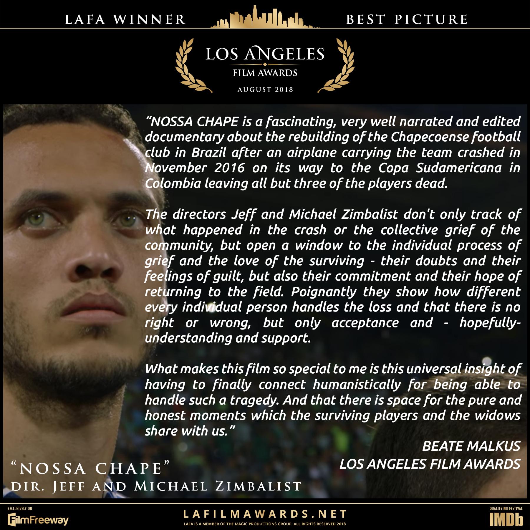 NOSSA CHAPE - LAFA Best Picture - Review