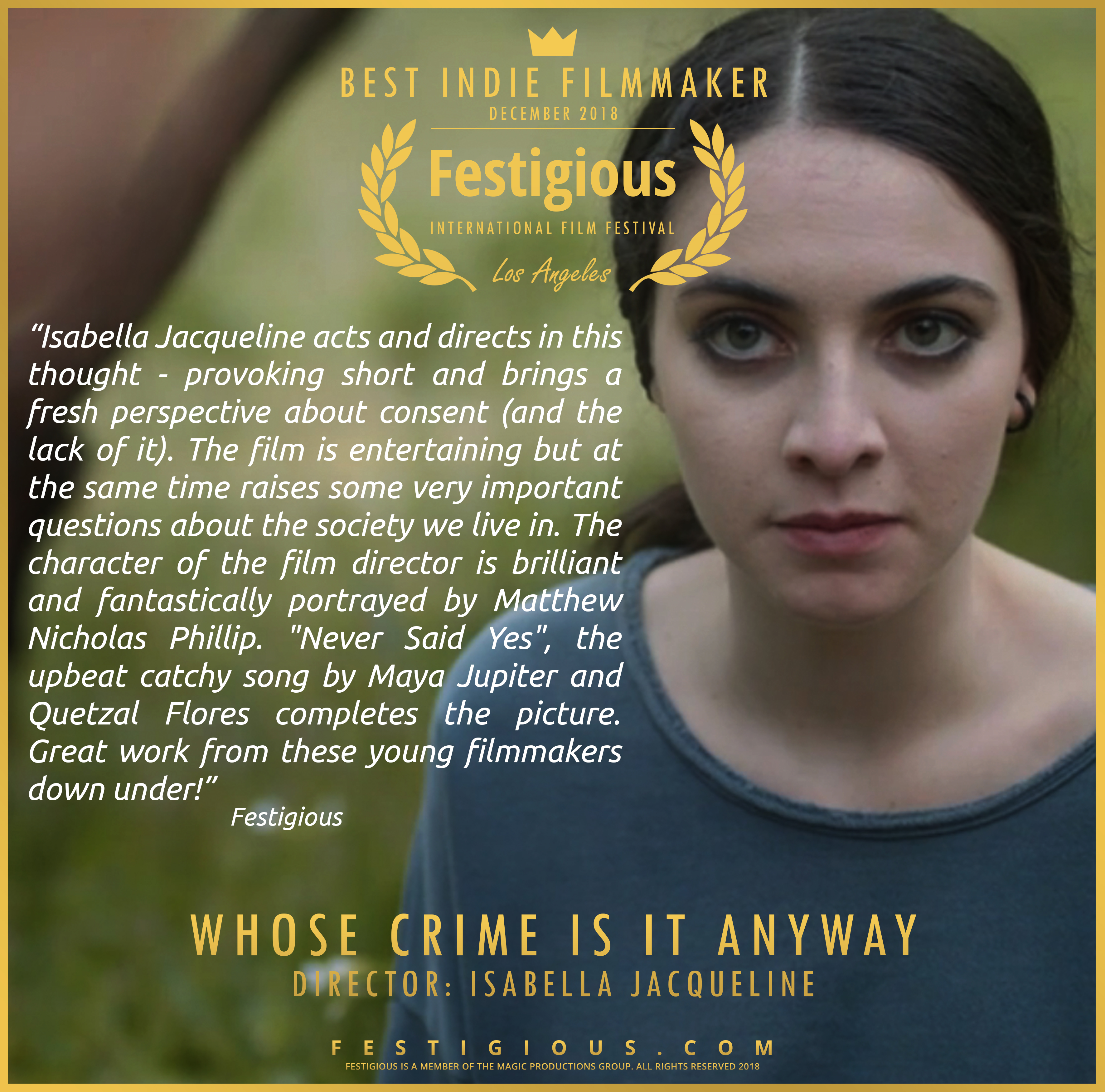 WHOSE CRIME IS IT ANYWAY Review