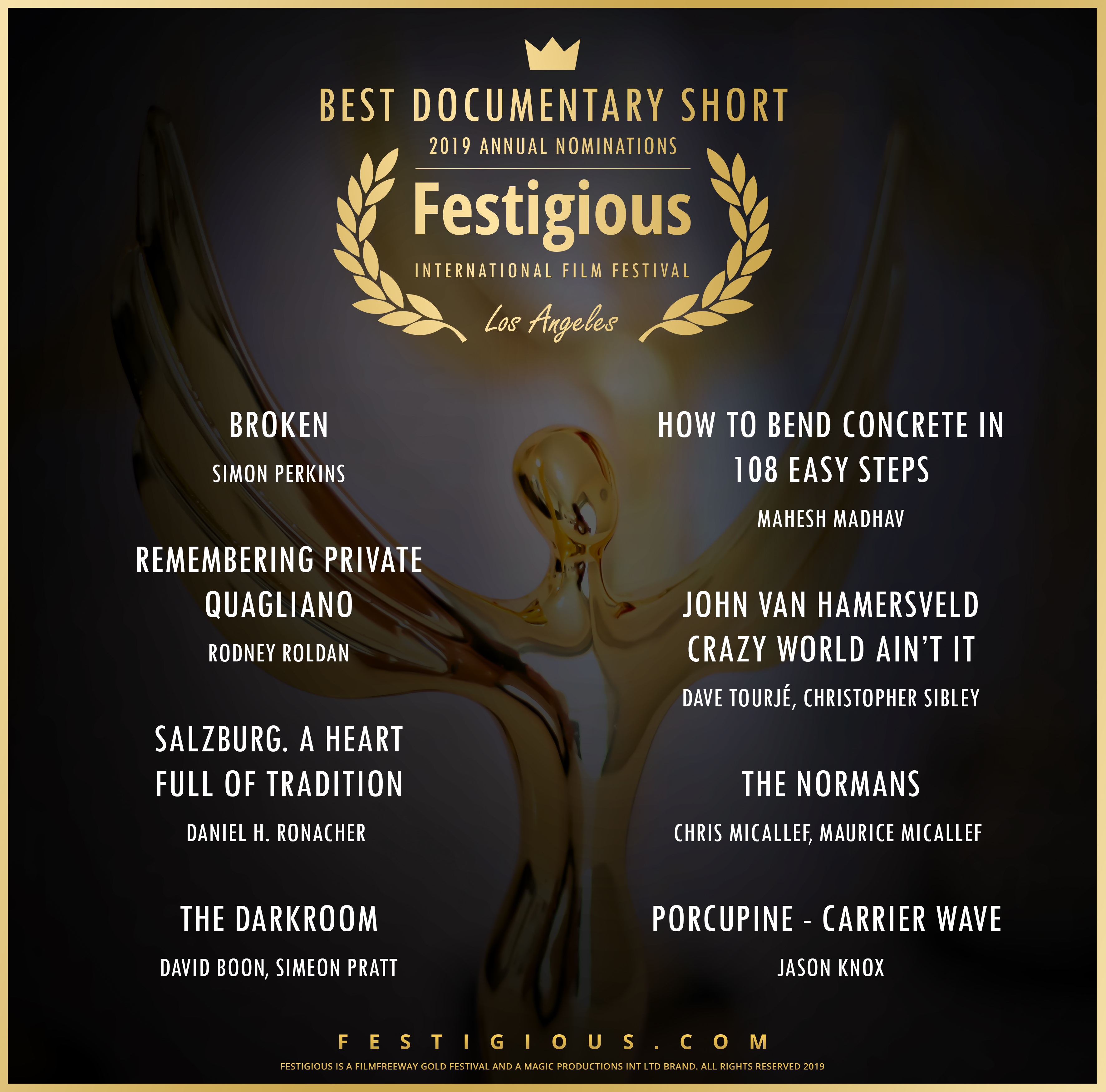 Festigious Best Documentary Short