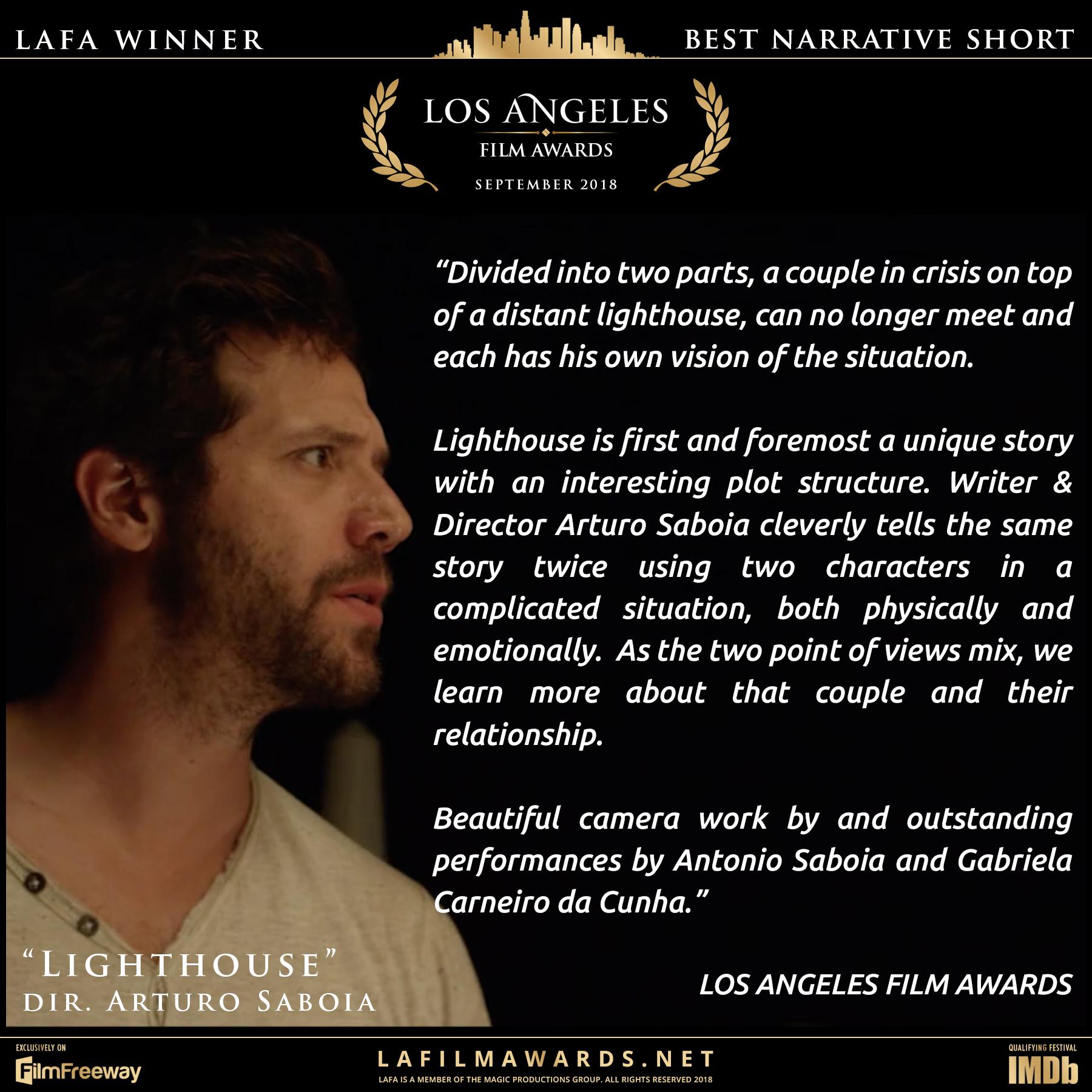 Lighthouse - LAFA Best Narrative Short -
