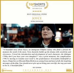2018 09 Best Original Story - Joyce