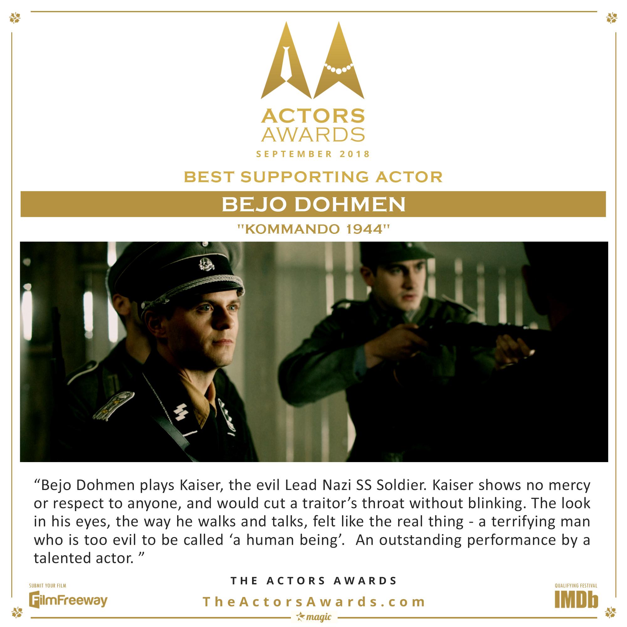 Kommando 1944 - Best Supporting Actor