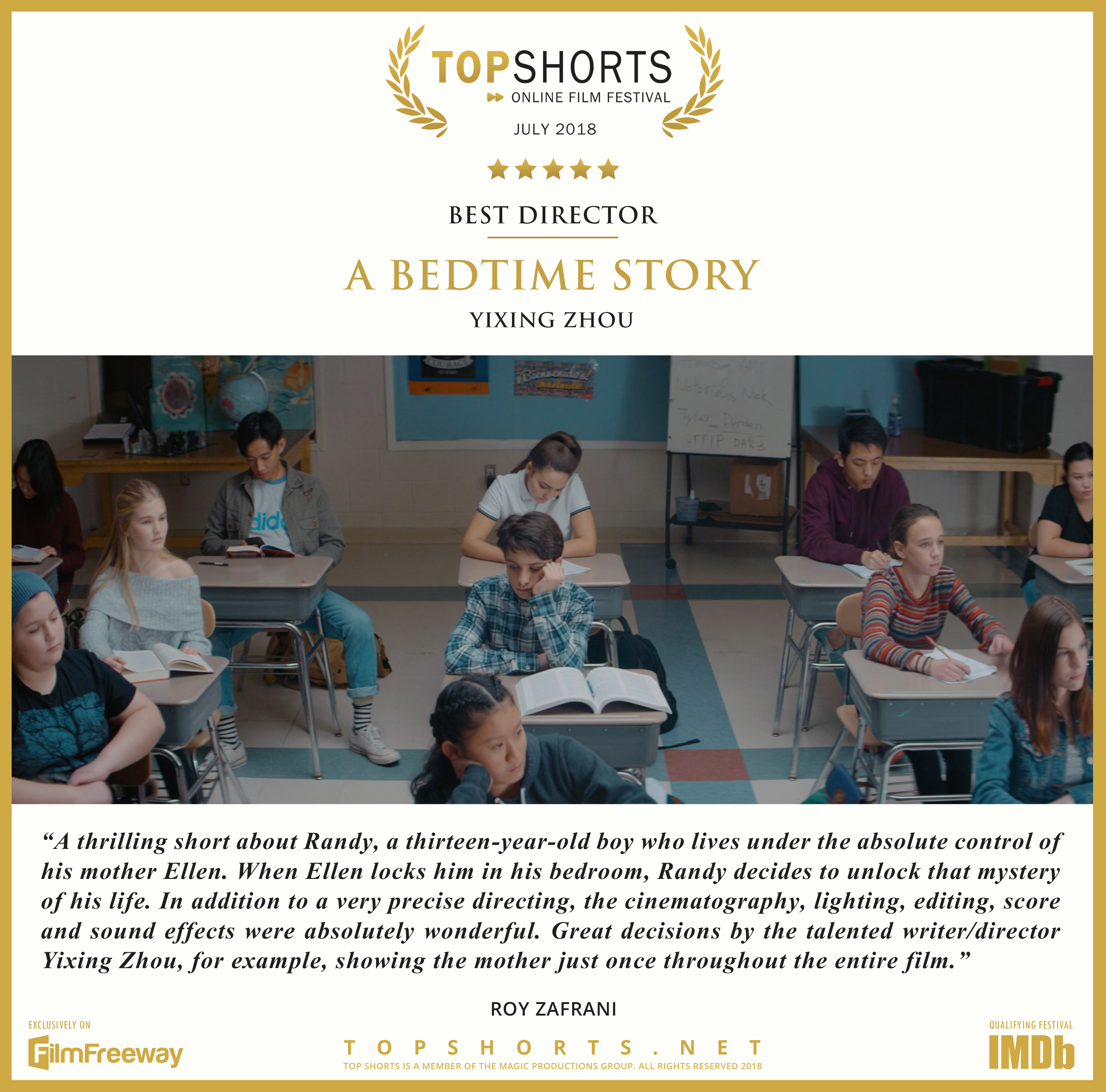 2018 07 Best Director - A Bedtime Story