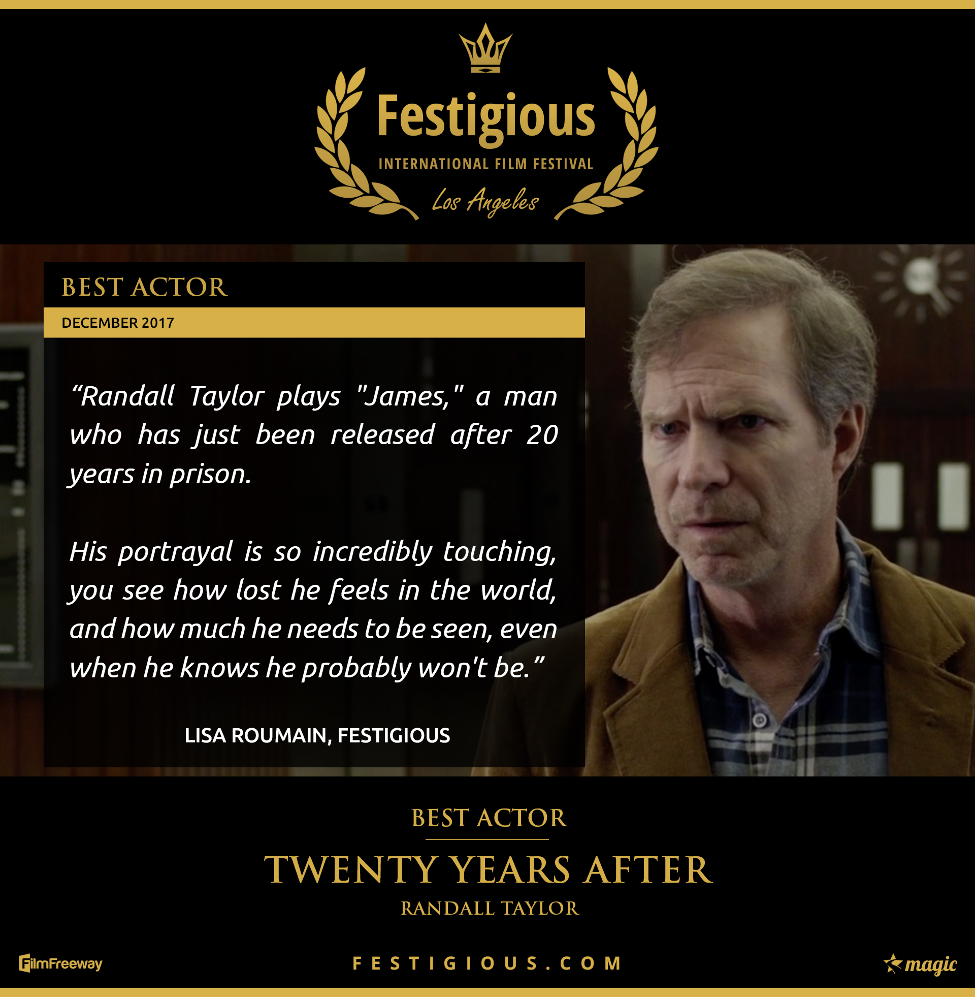 Twenty Years After - Festigious Best Actor - 2017 12
