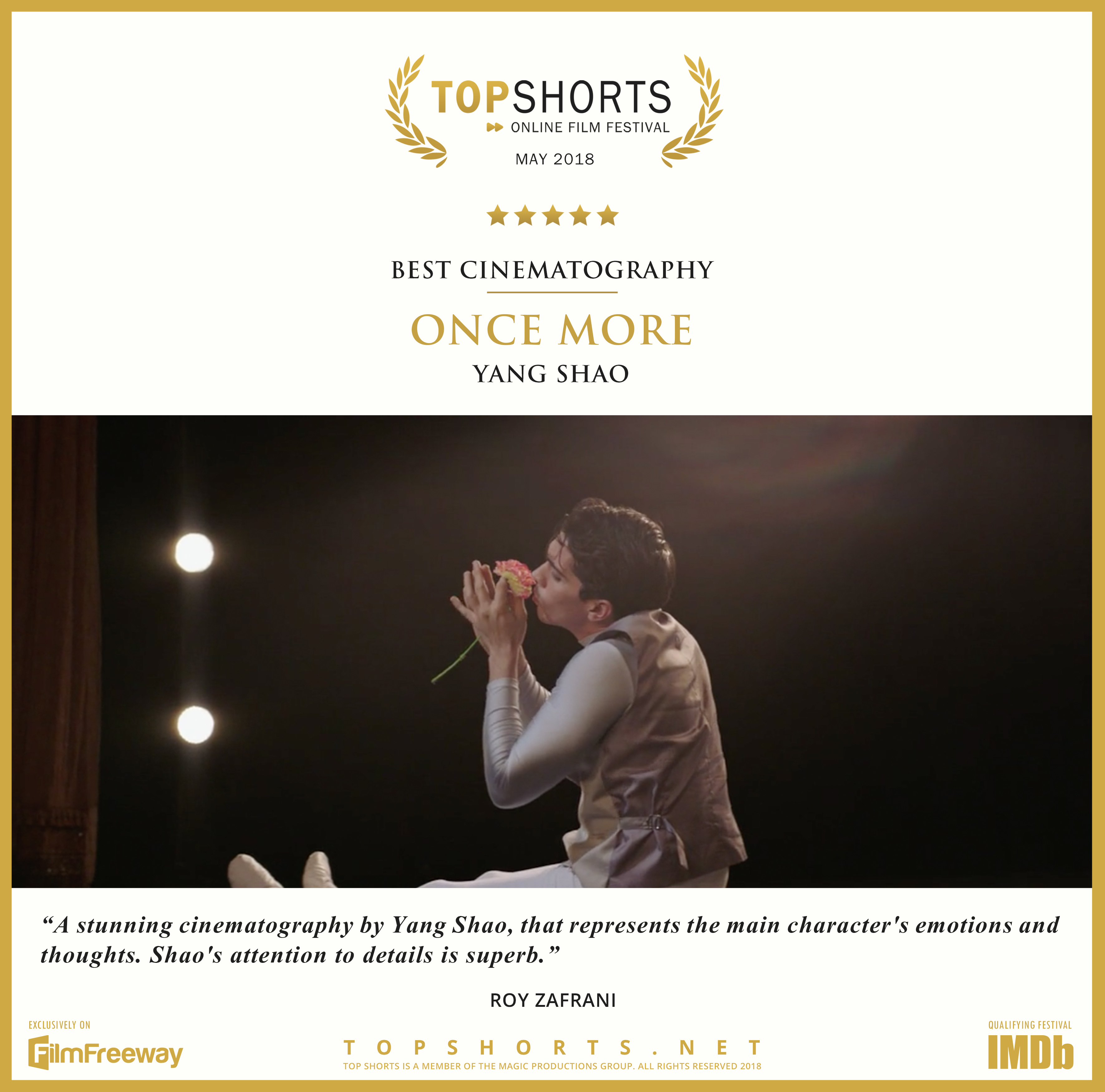2018 05 Best Cinematography - ONCE MORE