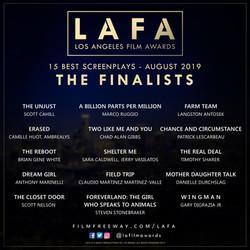 LAFA SCREENPLAY FINALISTS 20