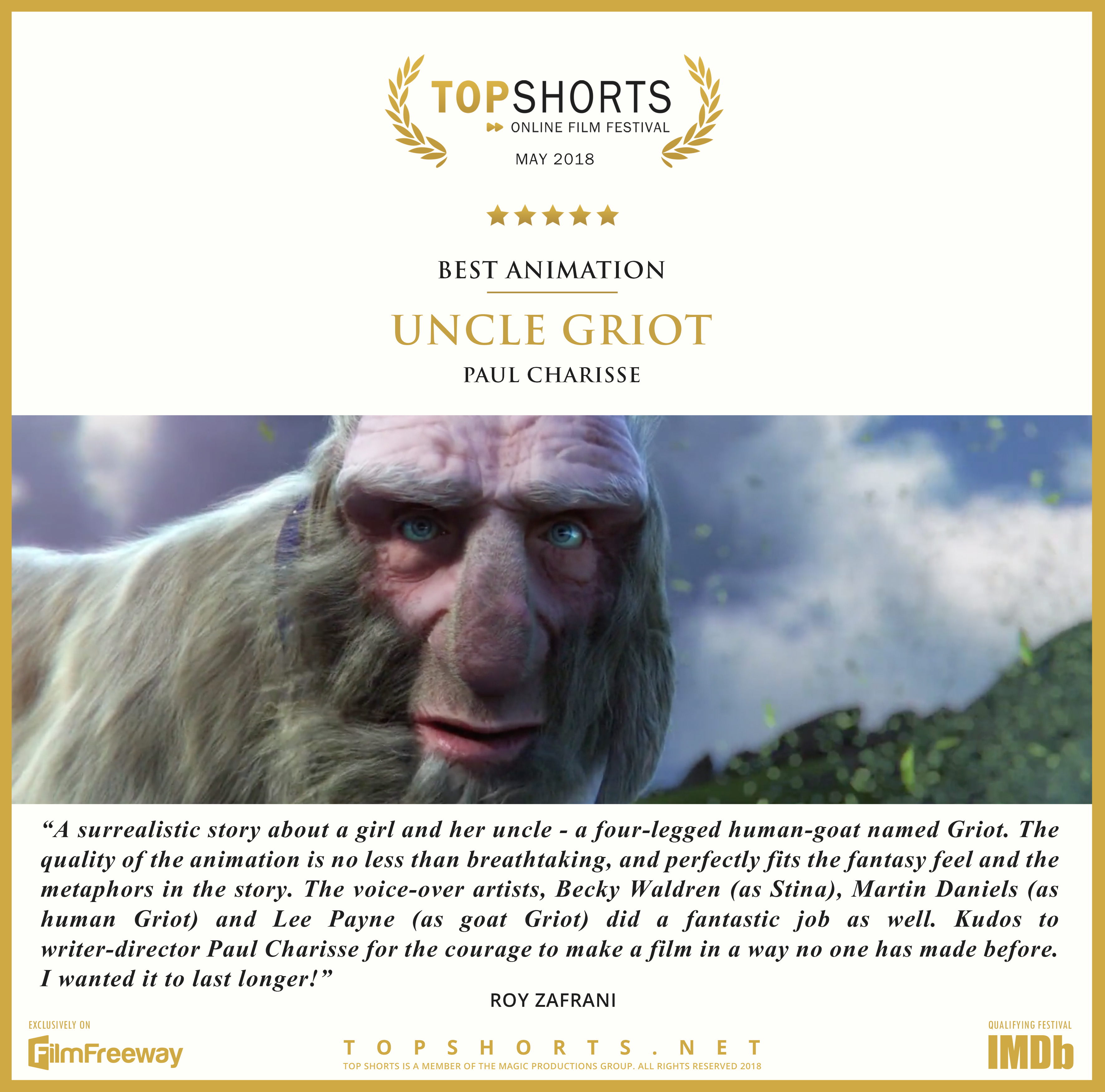 2018 05 Best Animation - Uncle Griot