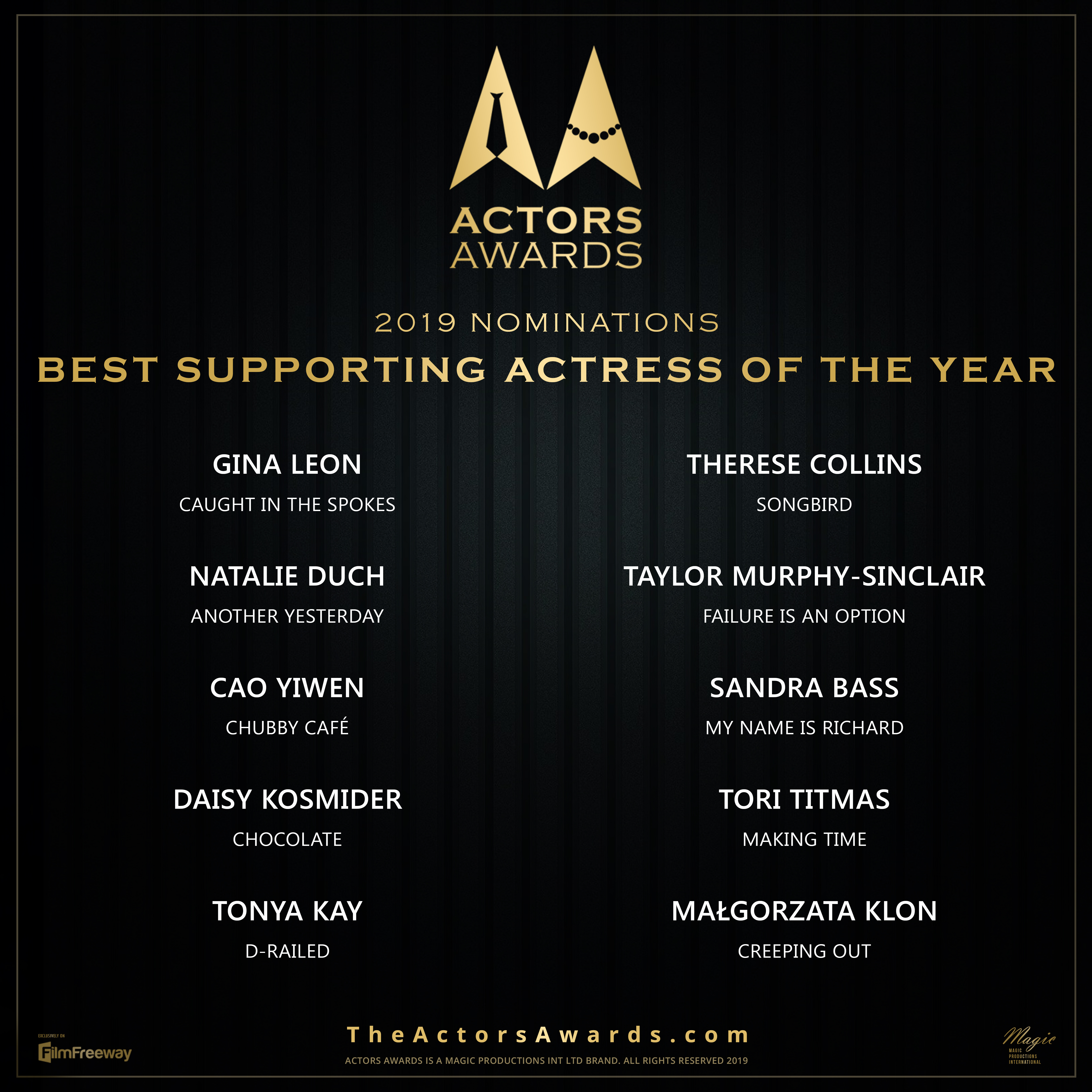 ACTORS AWARDS Best Supporting Actress