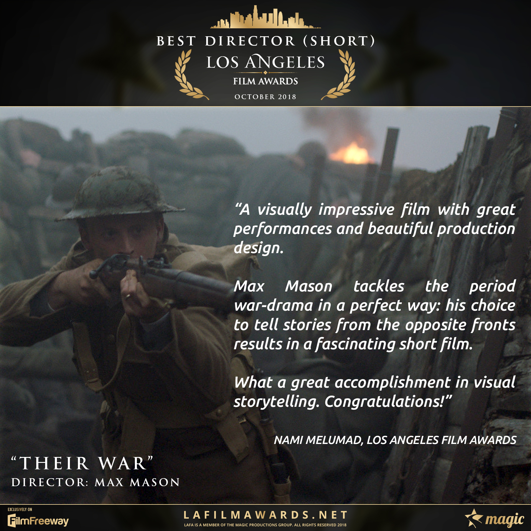 Their War - LAFA Best Director - Short -