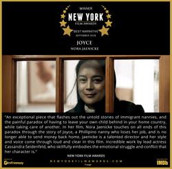 Joyce - 2018 09 Best Narrative Film