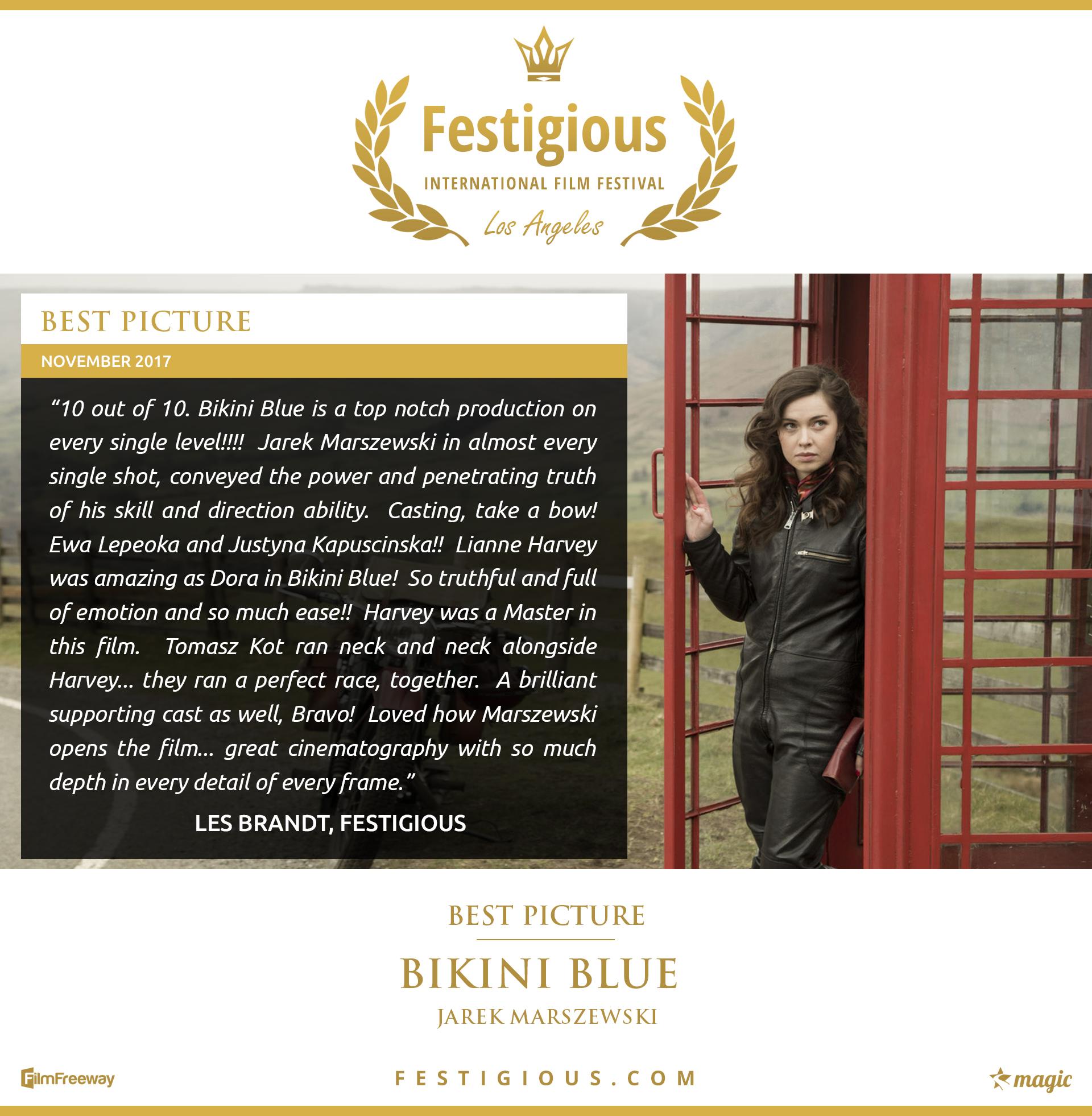 Bikini Blue - Festigious Best Picture - 2017 11