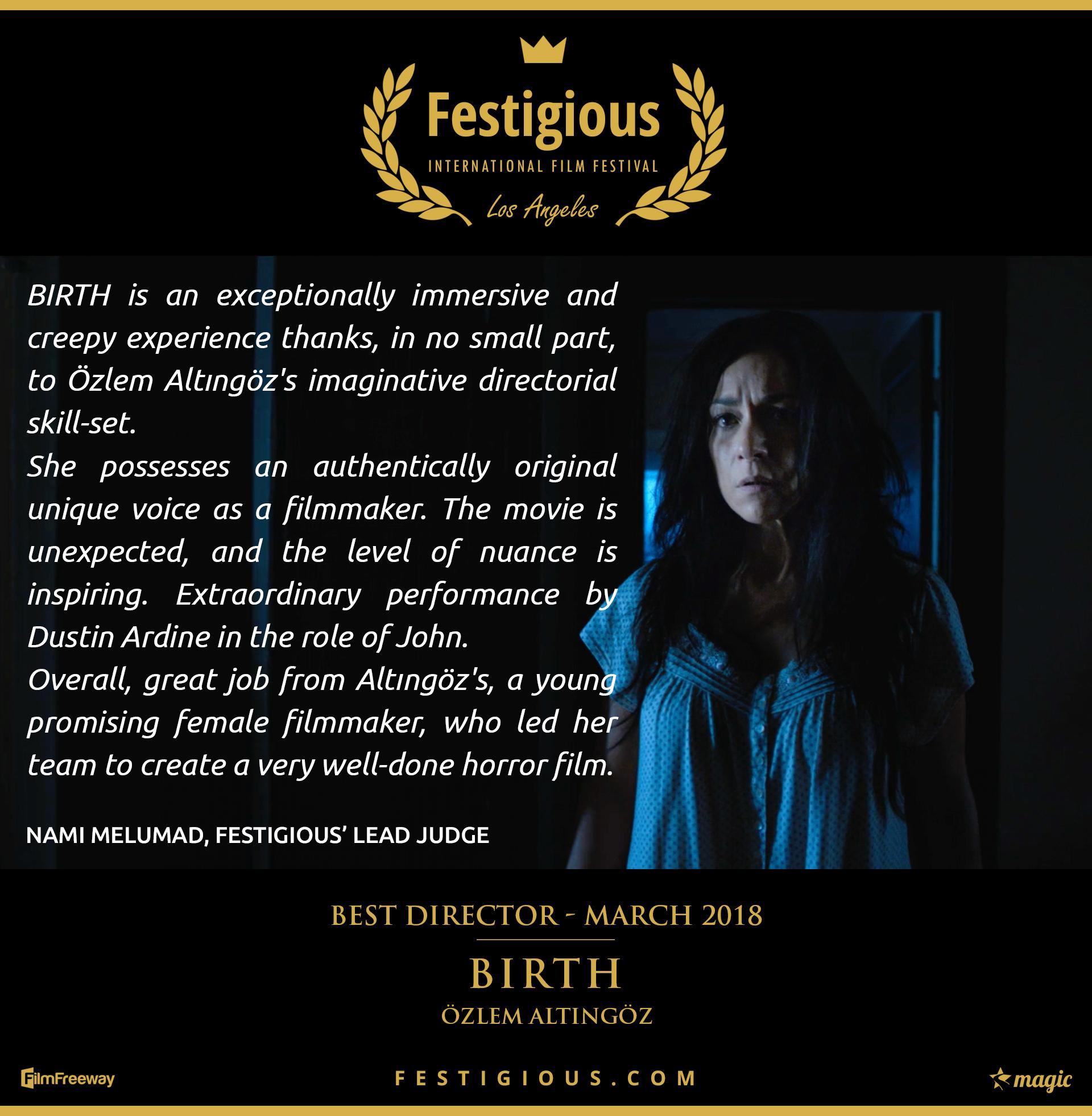 Birth - Best Director