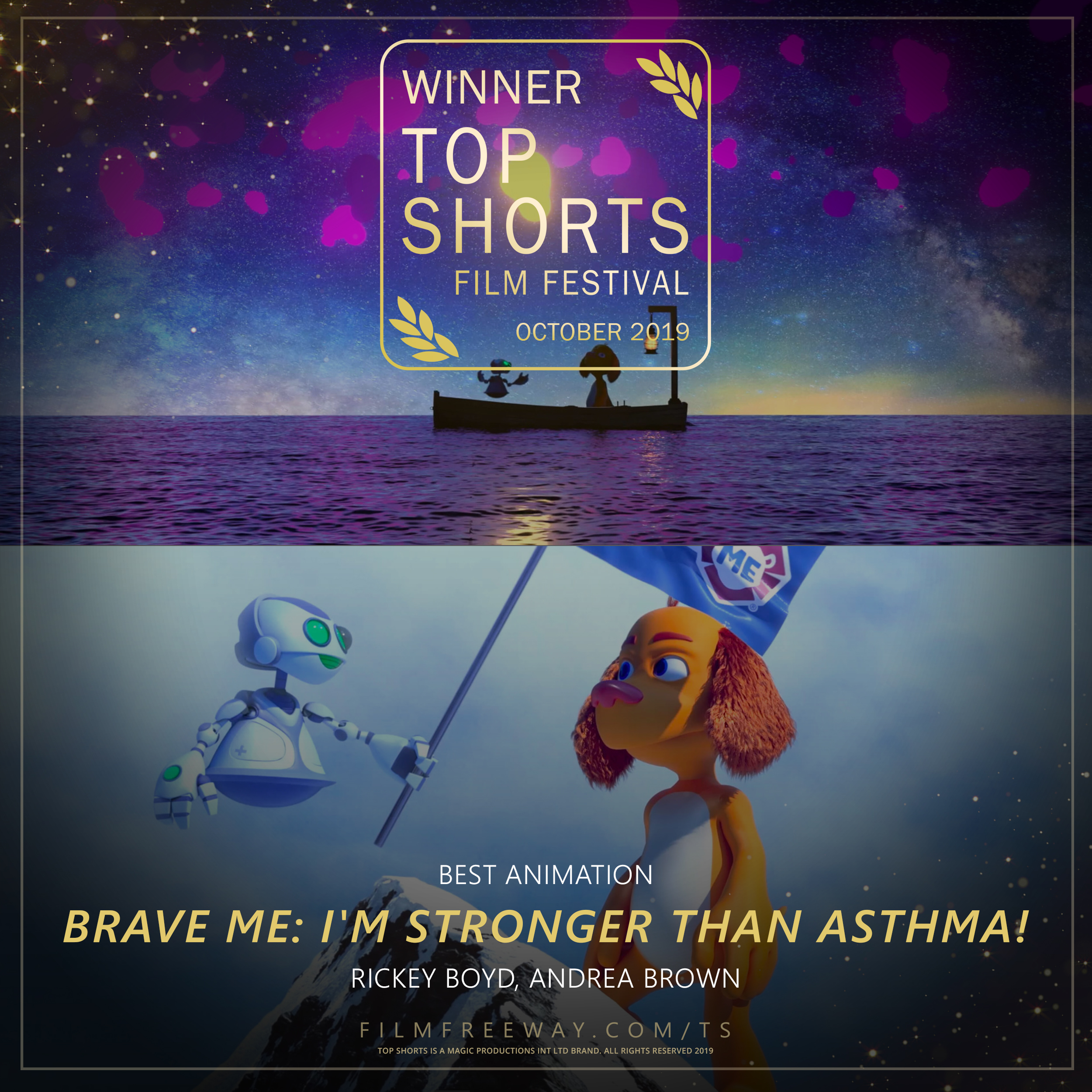 Brave Me I'm Stronger than Asthma design