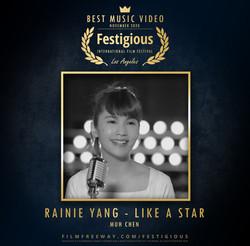 Rainie Yang - Like a Star design