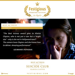 Suicide Club - Festigious Best Actress - 2017 11