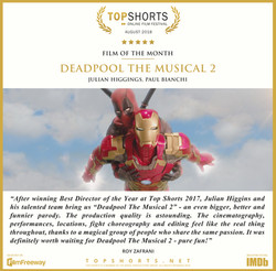 2018 08 Film of the Month - Deadpool The