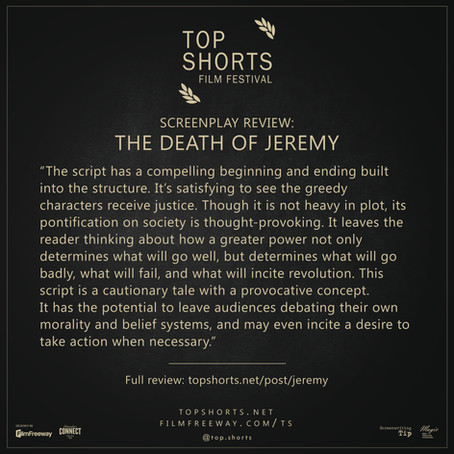 Screenplay Review: The Death of Jeremy
