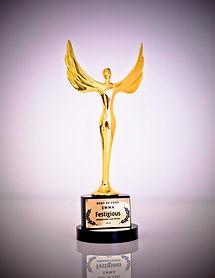 Festigious Statuette Los Angeles Film Festival Monthly Competition