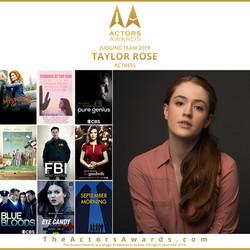 Actors Awards 2019 - Taylor Rose