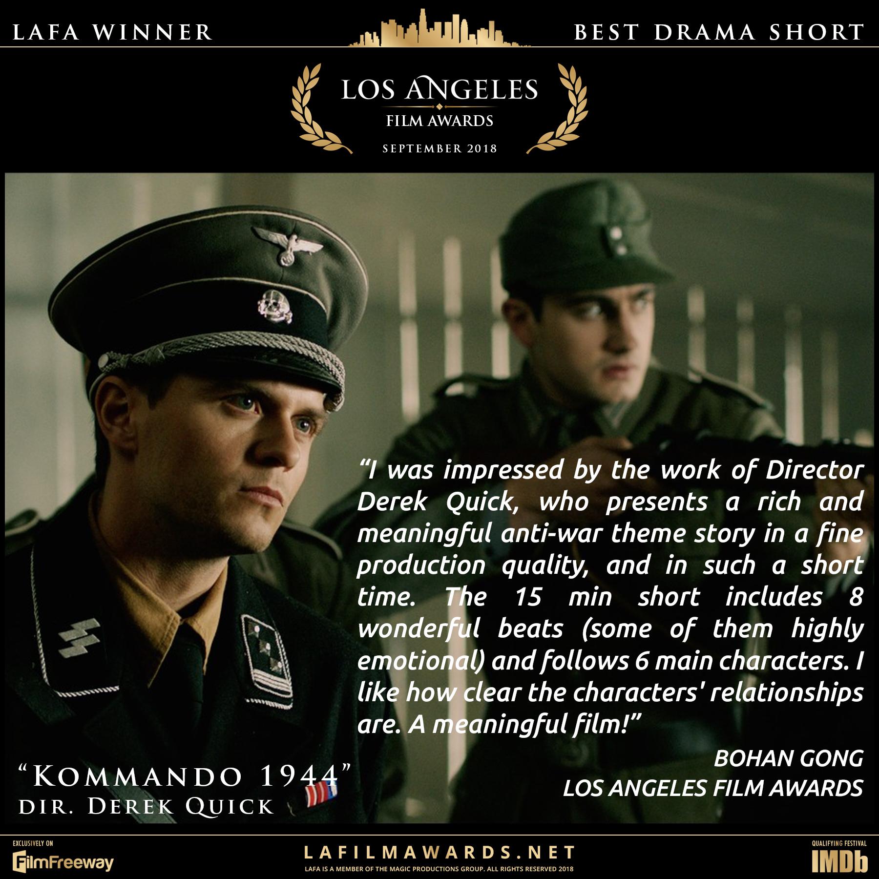 Kommando 1944 - LAFA Best Drama Short -