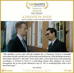 2018 11 Best Drama - A Friend In Need