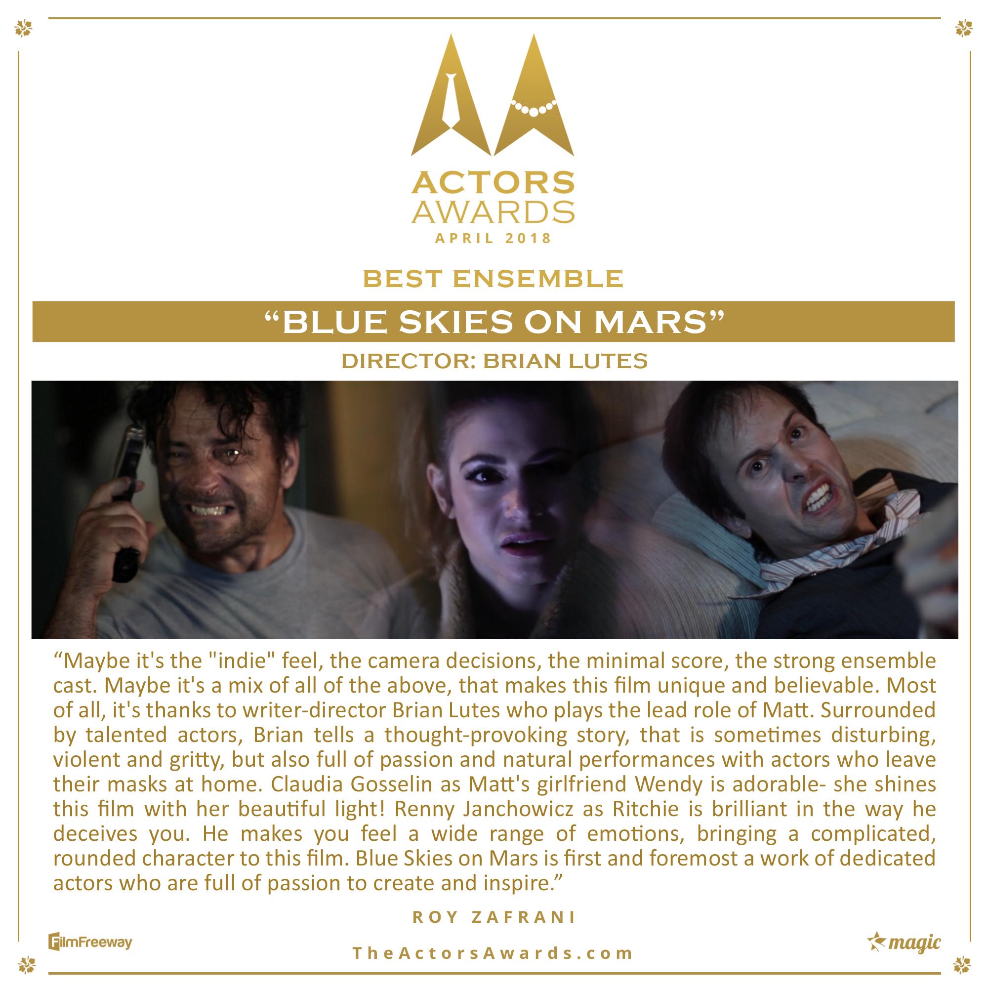 BLUE SKIES ON MARS 2018 04 Best Ensemble