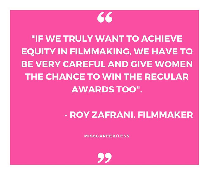 WE NEED TO EMPOWER WOMEN IN FILMMAKING