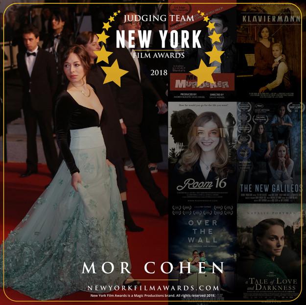 New York Film Awards 2018 Annual Mor Coh