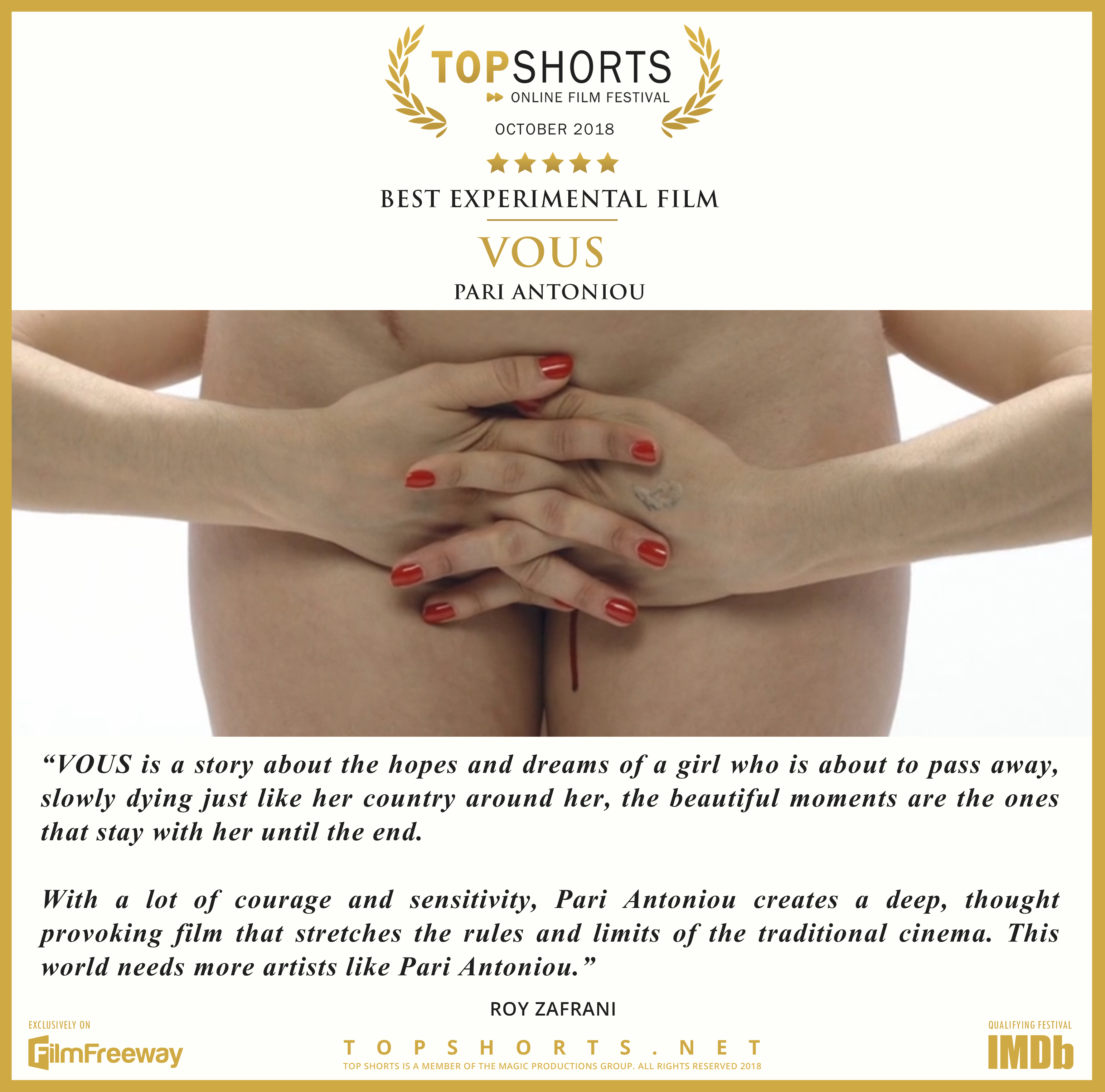 2018 10 Best Experimental Film - Vous