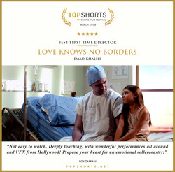 2018 03 Best First Time Director - LOVE KNOWS NO BORDERS