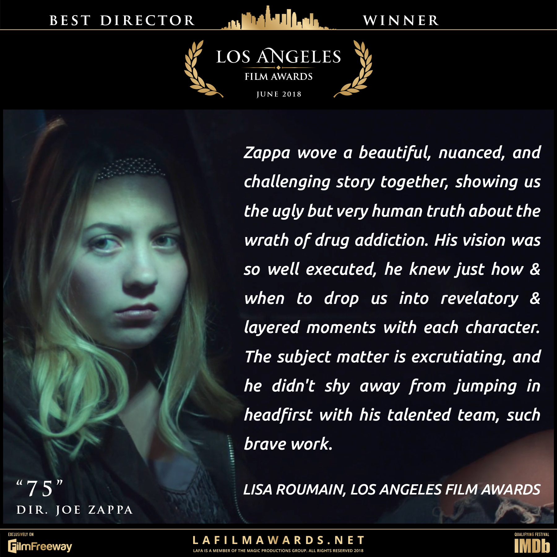 75 - LAFA Best Director - Review