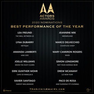 4th Annual Actors Awards 2020: The Nominees