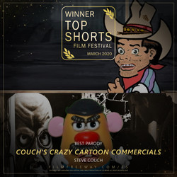 Couch's Crazy Cartoon Commercials design