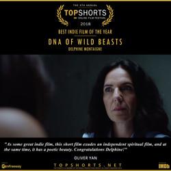 DNA of Wild Beasts - Best Indie Film