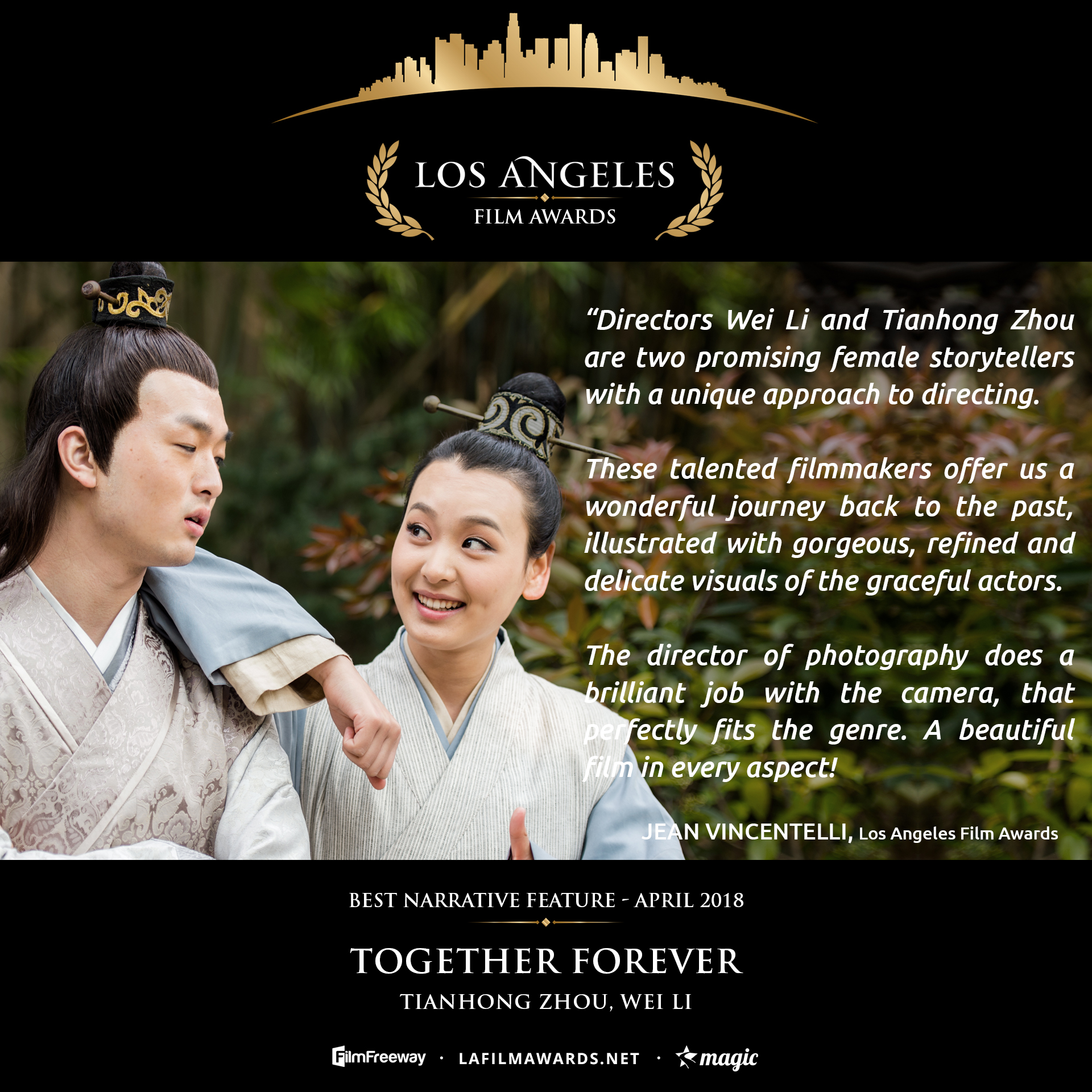 TOGETHER FOREVER - LAFA Best Narrative Feature - Review