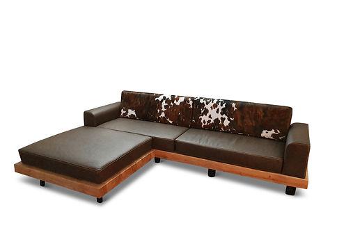 Leder Kuhfell Sofa
