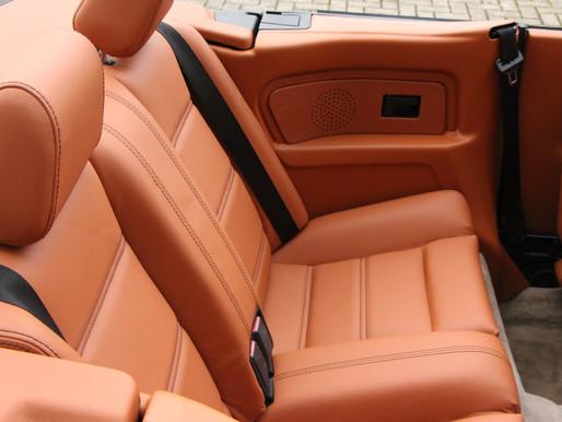 Neues BMW Interieur, vorher grau jetzt in schönem terracotta