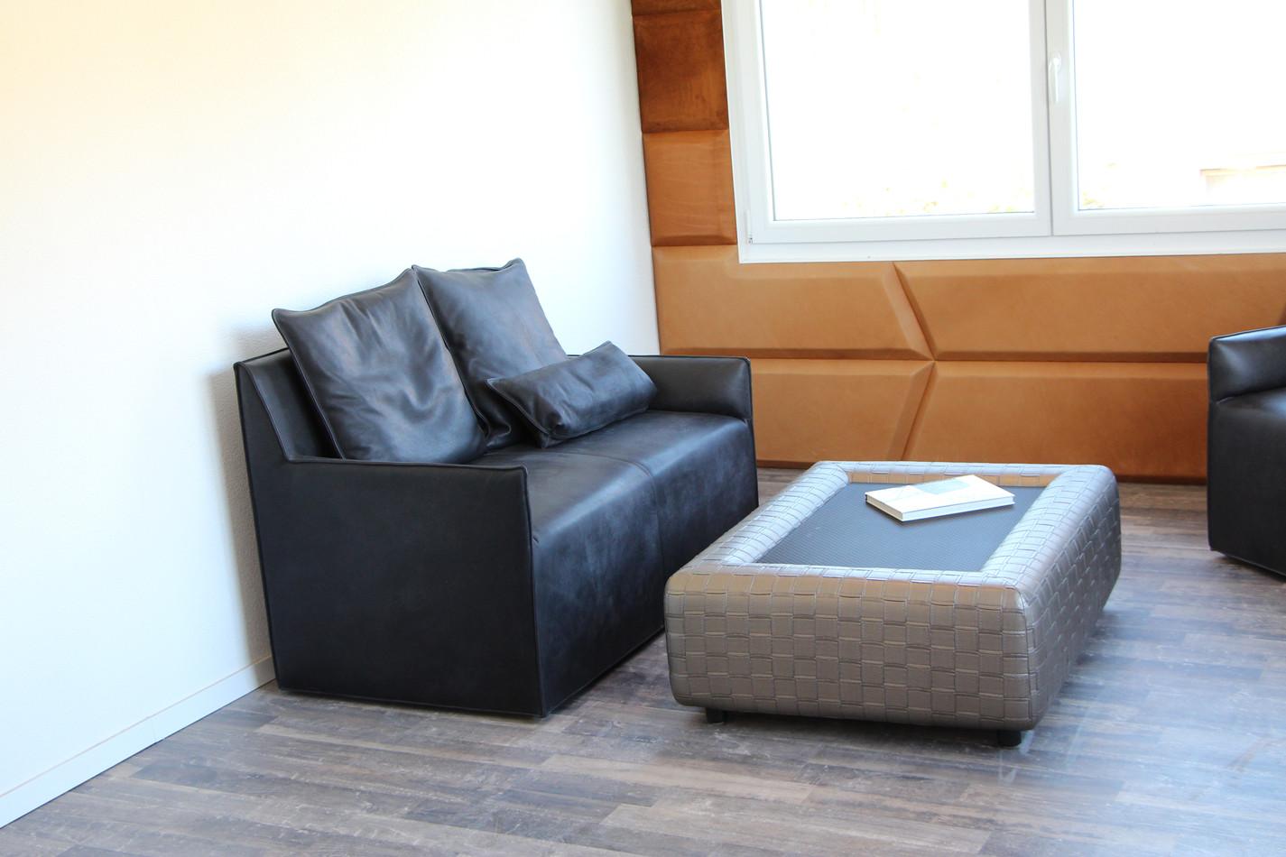 2er Sofa LB16 in Anilin-Leder