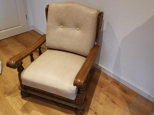 Für diesen schönen Sessel haben wir neue Kissen angefertigt.