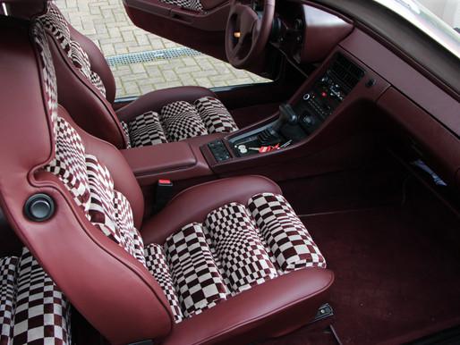 Hier durften wir einen Porsche mit neuen Sitzen, Lenkrad, Türverkleidungen und Mittelkonsole bekleid