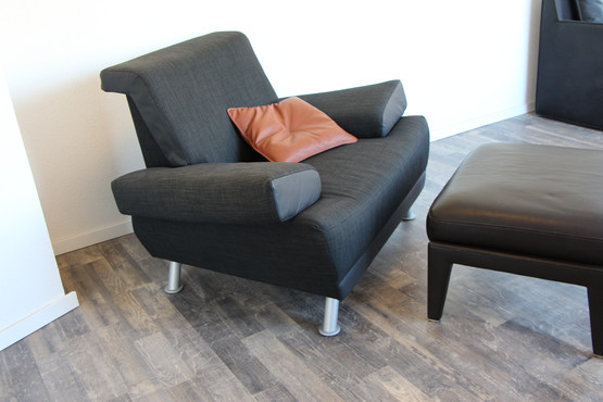 Chef-Sessel LB5 in Möbelstoff