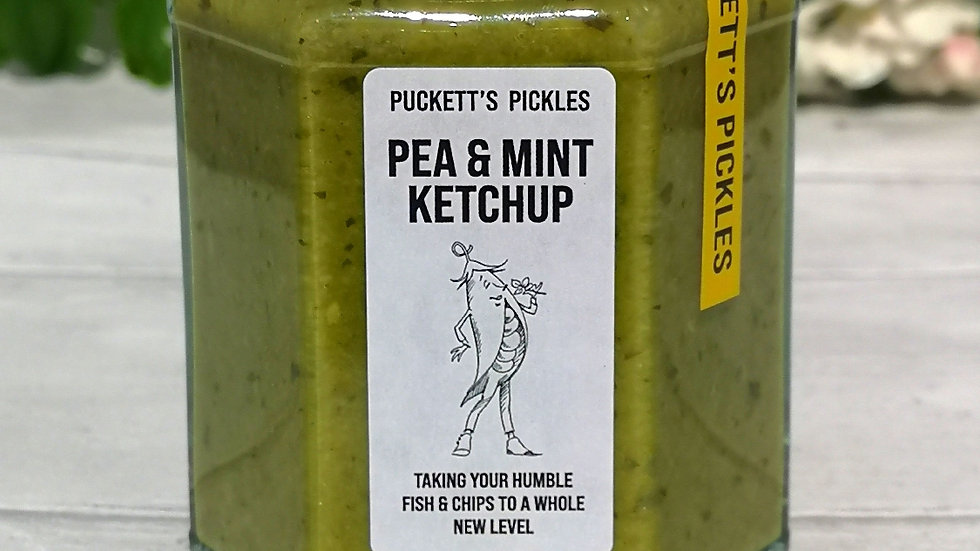 Pea & Mint Ketchup - A generous dollop will take the humble fish & chips to a wh