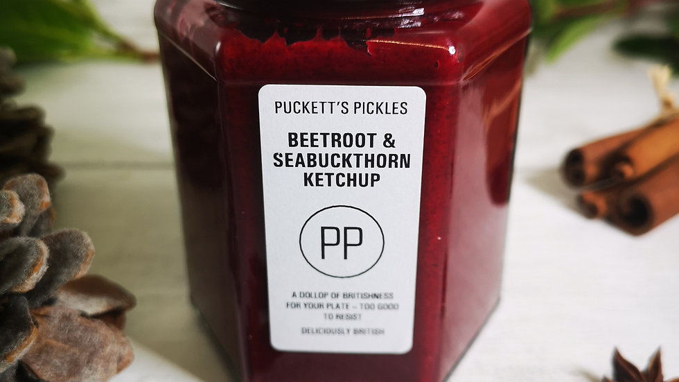 Beetroot & Seabuckthorn Ketchup - A dollop of Britishness for your plate - too g