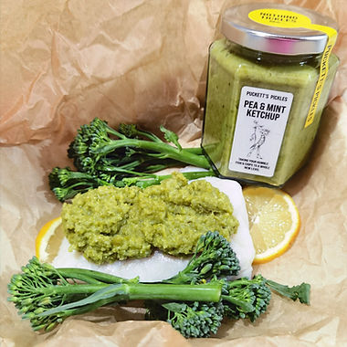 Cod with a Pea & Mint Crust Steamed Parcels
