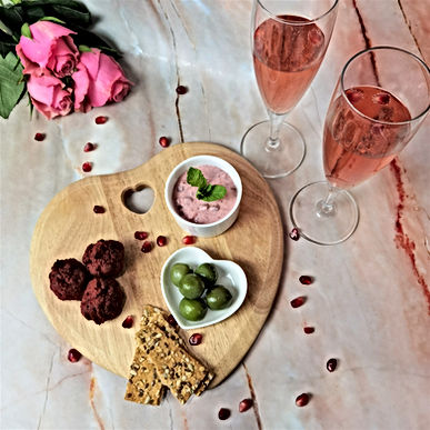 Beetroot Falafels with a Creamy Beetroot Dip