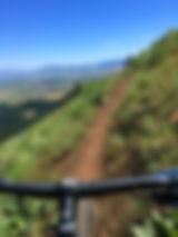 Mountain bike on Upper Igo trail