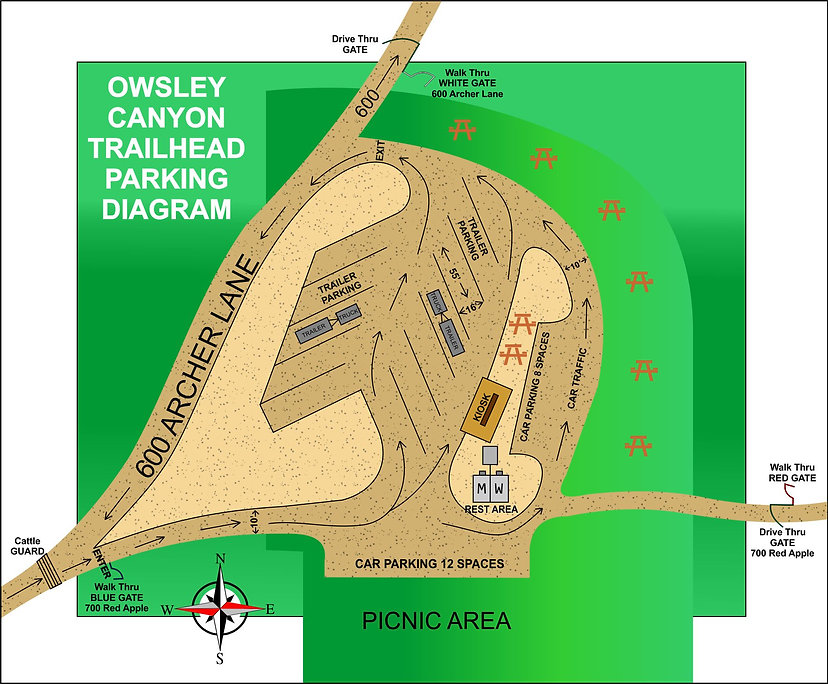Owsley Canyon TH Parking Diagram