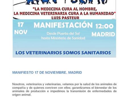 Veterunión con la Manifestación este domingo 17 de noviembre